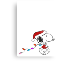 Snoopy - Holiday lights Metal Print