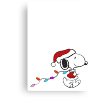 Snoopy - Holiday lights Canvas Print