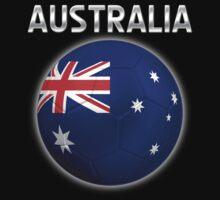 Australia - Australian Flag - Football or Soccer Ball & Text 2 Kids Clothes