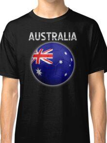 Australia - Australian Flag - Football or Soccer Ball & Text 2 Classic T-Shirt