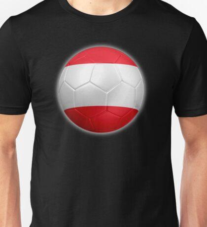 Austria - Austrian Flag - Football or Soccer 2 Unisex T-Shirt