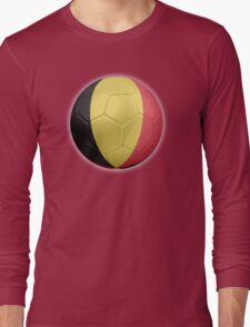 Belgium - Belgian Flag - Football or Soccer 2 Long Sleeve T-Shirt