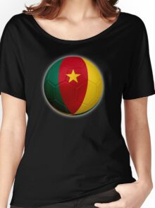 Cameroon - Cameroonian Flag - Football or Soccer 2 Women's Relaxed Fit T-Shirt