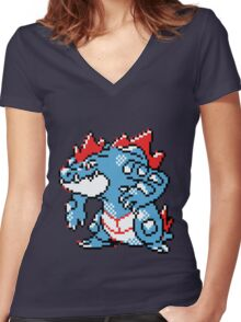 Pokemon - Feraligatr Women's Fitted V-Neck T-Shirt