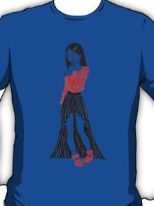 Girl in Dress T-Shirt