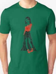 Girl in Dress T-Shirt