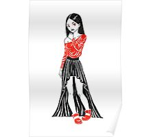 Girl in Dress Poster