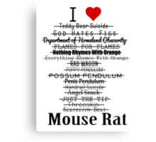 Parks and Recreation - I <3 Mouse Rat Canvas Print