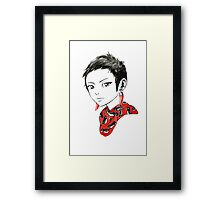 Paprika Girl Framed Print