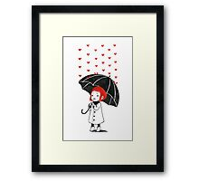 Love rain Framed Print