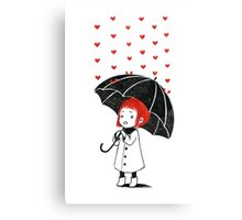 Love rain Canvas Print