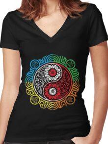 Avatar Balance - Legend of Korra Women's Fitted V-Neck T-Shirt