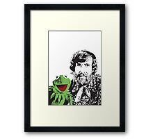 Jim Henson and Kermit - Master Puppeteer and Creative Genius Framed Print
