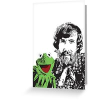 Jim Henson and Kermit - Master Puppeteer and Creative Genius Greeting Card