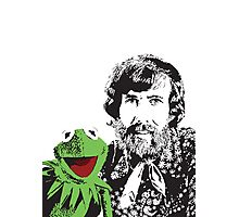 Jim Henson and Kermit - Master Puppeteer and Creative Genius Photographic Print