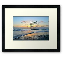 Love one another ~ digital paint effect Framed Print