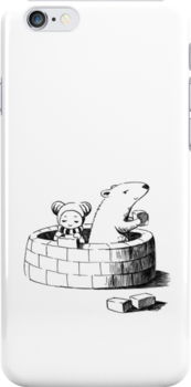 Girl and a polar bear building by freeminds