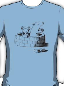 Girl and a polar bear building T-Shirt