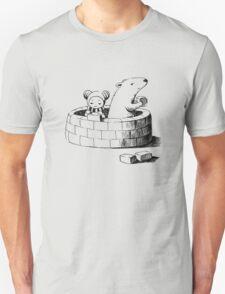 Girl and a polar bear building Unisex T-Shirt