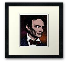 ABRAHAM LINCOLN-COLOUR Framed Print