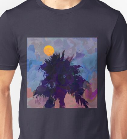 Moonrise and Palm Tree Unisex T-Shirt