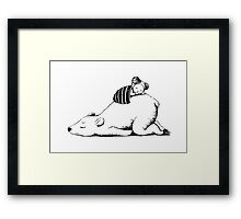 Polar sleep Framed Print