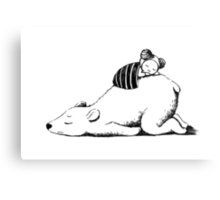 Polar sleep Canvas Print