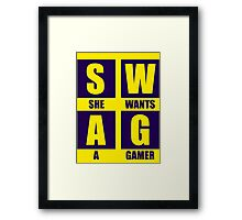 She Wants A Gamer Framed Print