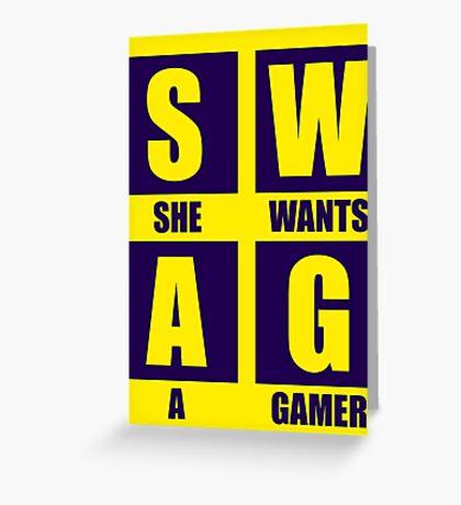 She Wants A Gamer Greeting Card