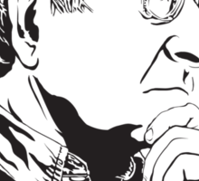 Noam Chomsky - Portrait Version - Great American Mind and Teacher Sticker