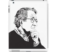 Noam Chomsky - Portrait Version - Great American Mind and Teacher iPad Case/Skin