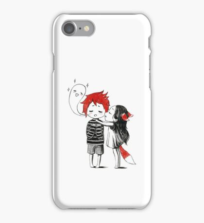 Boy and a fox iPhone Case/Skin