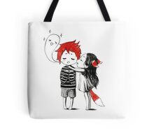 Boy and a fox Tote Bag