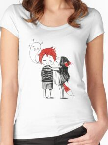 Boy and a fox Women's Fitted Scoop T-Shirt