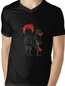 Boy and a fox Mens V-Neck T-Shirt