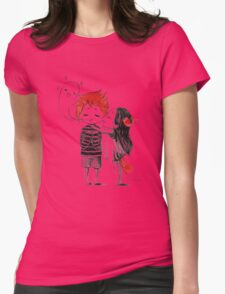 Boy and a fox Womens Fitted T-Shirt