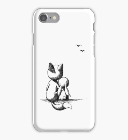 Fox and a rabbit iPhone Case/Skin