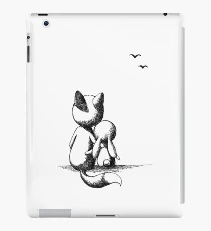 Fox and a rabbit iPad Case/Skin