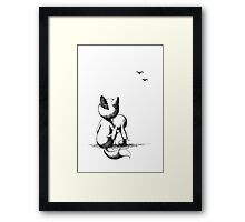 Fox and a rabbit Framed Print