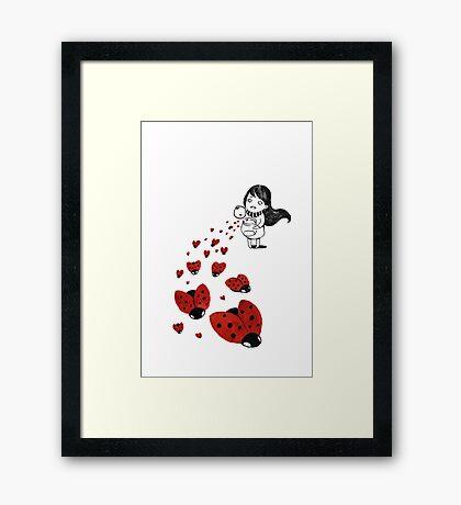 Ladybugs Framed Print