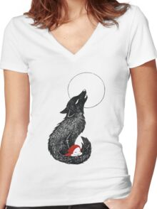 Red riding hood Women's Fitted V-Neck T-Shirt