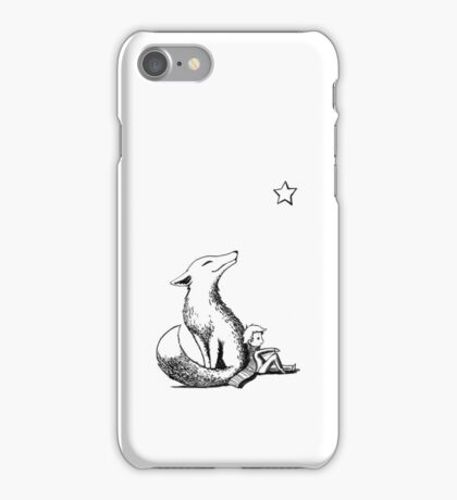 Boy and the fox iPhone Case/Skin