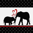 An Elephant's Love Print by red addiction