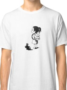 Girl and a rabbit Classic T-Shirt