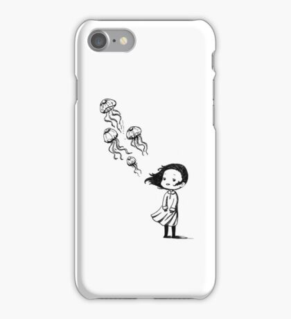Girl and the jellyfish iPhone Case/Skin