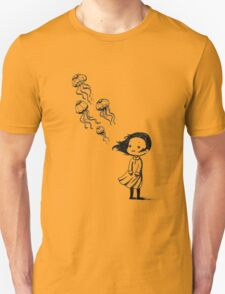 Girl and the jellyfish Unisex T-Shirt