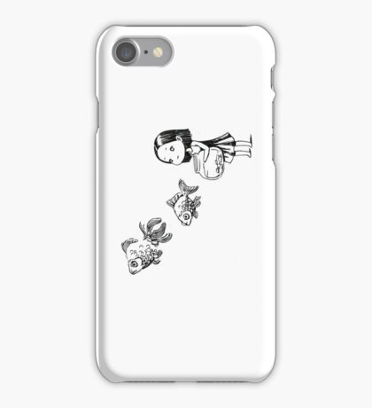 Girl and the fish iPhone Case/Skin