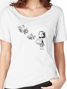 Girl and the fish Women's Relaxed Fit T-Shirt