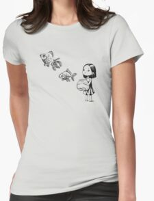 Girl and the fish Womens Fitted T-Shirt