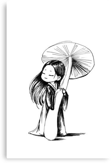 Girl under the mushroom by freeminds